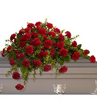 adoration casket spray - Rose Garden Funeral Home